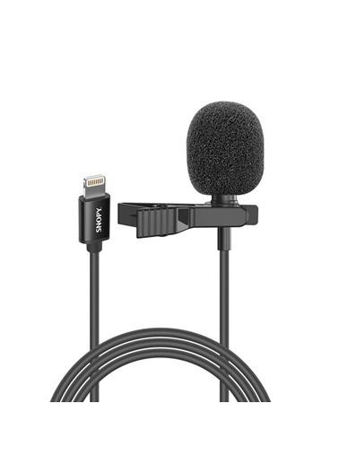 Snopy Sn-M30 Siyah Lightning Akıllı Telefon, Tik-Tok Ve Youtuber Yaka Mikrofonu Renkli